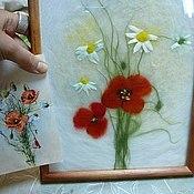 """Картины и панно ручной работы. Ярмарка Мастеров - ручная работа """"Картина из шерсти"""" по картинке или фото/репродукции. Handmade."""
