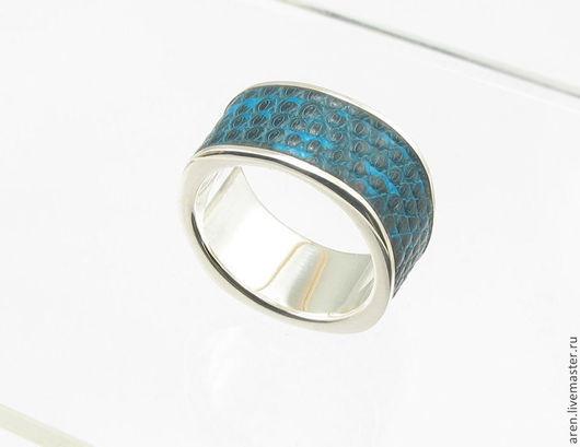 """Кольца ручной работы. Ярмарка Мастеров - ручная работа. Купить Кольцо """"Iguana"""". Handmade. Морская волна, тёмно-синий"""