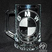 Посуда handmade. Livemaster - original item BMW. Beer mug. Handmade.