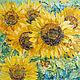 Картины цветов ручной работы. Ярмарка Мастеров - ручная работа. Купить Подсолнухи. Handmade. Желтый, лето, Живопись, картина в подарок