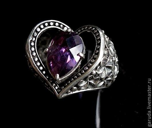"""Кольца ручной работы. Ярмарка Мастеров - ручная работа. Купить Кольцо """"Сердце"""". Handmade. Серебро, кольцо из серебра, подарок женщине"""