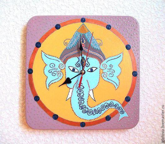 Часы для дома ручной работы. Ярмарка Мастеров - ручная работа. Купить Часы настенные Слон Индия, часы ручной работы. Handmade.