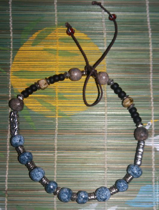 """Колье, бусы ручной работы. Ярмарка Мастеров - ручная работа. Купить Ожерелье """"Зима"""". Handmade. Холодные тона, голубой"""