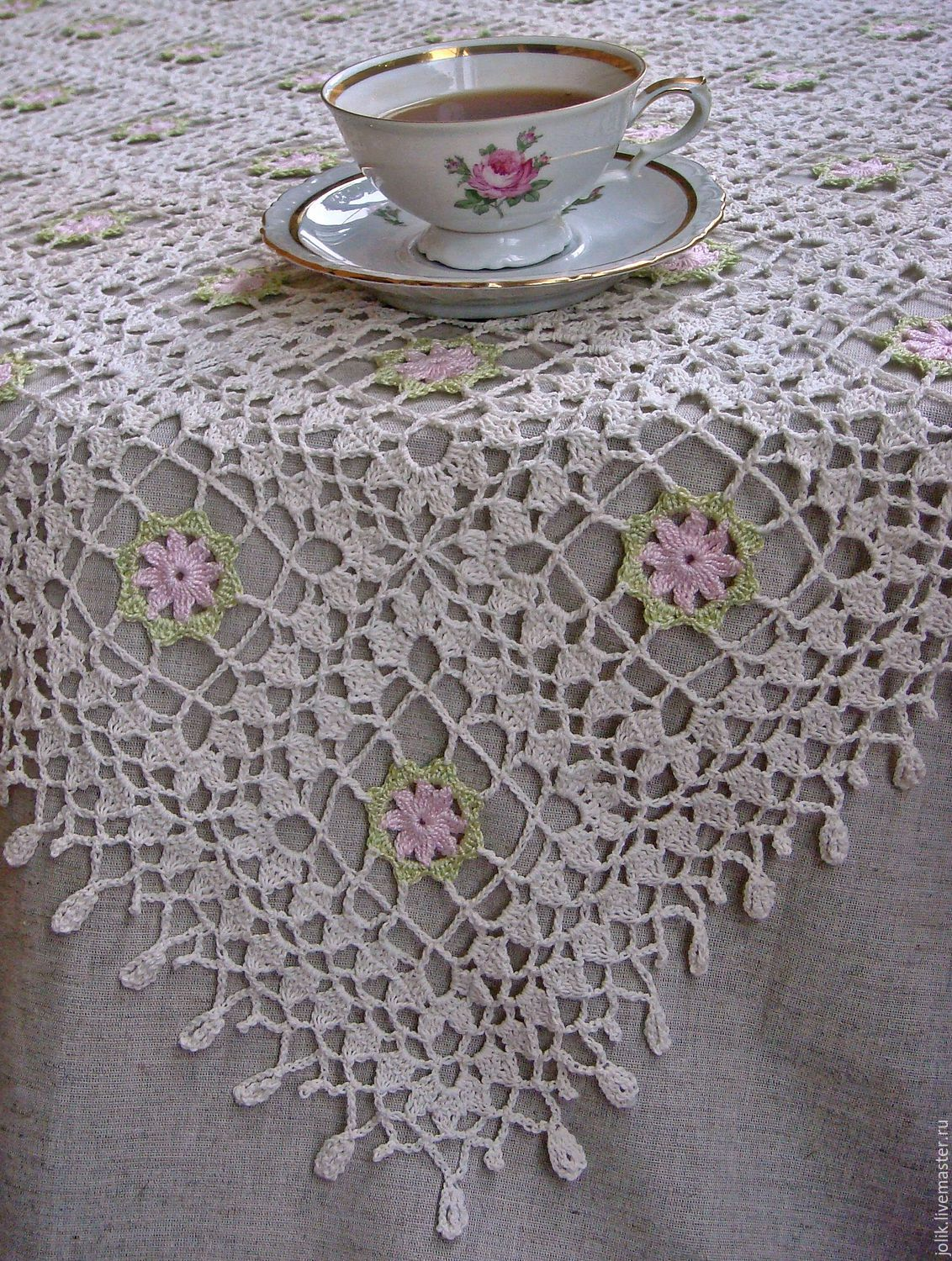 ... Tablecloth Crochet `Shabby Chic` Tablecloth Square Tablecloth Crochet  Beautiful Tablecloth A Wedding Giftbuy Tablecloth ...