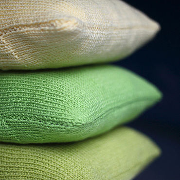 Textiles handmade. Livemaster - original item Knitted pillow Nothing extra Forest and Berry. Handmade.
