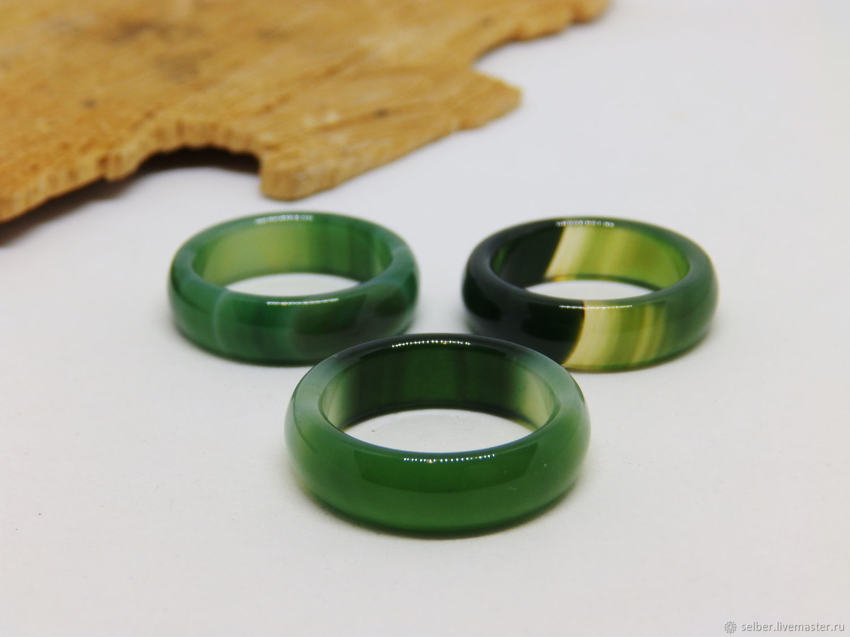 17 green agate ring (Mal 17), Rings, Gatchina,  Фото №1