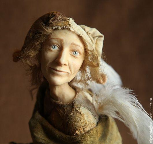 Коллекционные куклы ручной работы. Ярмарка Мастеров - ручная работа. Купить Ангел и Шут, авторская кукла. Handmade. Коричневый, ангелы
