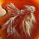 """Кулоны, подвески ручной работы. Ярмарка Мастеров - ручная работа. Купить Кулон """"Ангел"""". Handmade. Коричневый, образ, масло"""