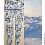 Одежда handmade. Livemaster - original item Leggings knit with a Norwegian ornament North. Handmade.