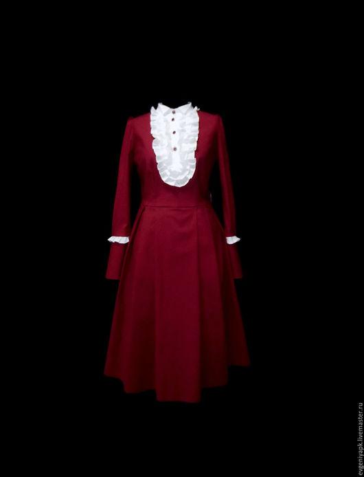 """Платья ручной работы. Ярмарка Мастеров - ручная работа. Купить Платье""""Француэлла Моник"""". Handmade. Бордовый, ручная работа, купить платье"""