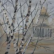 Картины и панно ручной работы. Ярмарка Мастеров - ручная работа Туман в осеннем городе. Handmade.