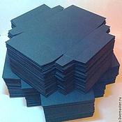 Материалы для творчества ручной работы. Ярмарка Мастеров - ручная работа Заготовка коробочек из дизайнерской бумаги 100 шт. в упаковке. Handmade.