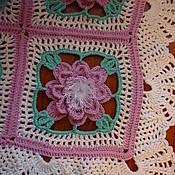 Для дома и интерьера ручной работы. Ярмарка Мастеров - ручная работа Плед-покрывало «Пионы». Handmade.