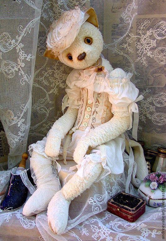 """Мишки Тедди ручной работы. Ярмарка Мастеров - ручная работа. Купить """"Гламурррка""""кошка в стиле барокко. Handmade. Белый, барокко"""