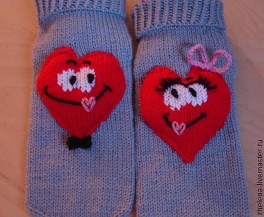 """Обувь ручной работы. Ярмарка Мастеров - ручная работа. Купить Вязаные носкотапки """"Сердечки"""". Handmade. Серый, вязаные носки, войлок"""