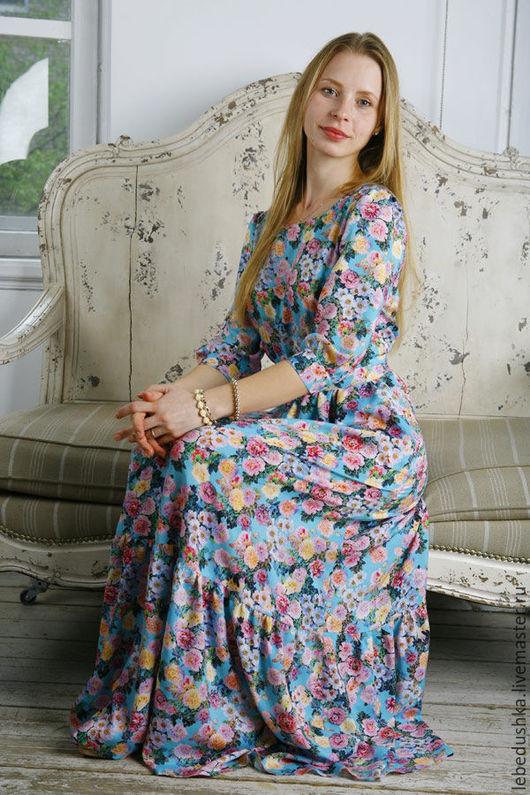 """Платья ручной работы. Ярмарка Мастеров - ручная работа. Купить Платье в пол """"Вальс цветов"""". Handmade. Цветочный, нарядное платье"""