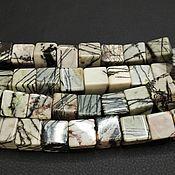 Материалы для творчества handmade. Livemaster - original item Beads Jasper gray stripe large cube 14-15mm. Handmade.
