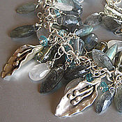 """Украшения ручной работы. Ярмарка Мастеров - ручная работа Браслет """"В ожидании"""": серебро, лабрадорит,апатит, лунный камень. Handmade."""
