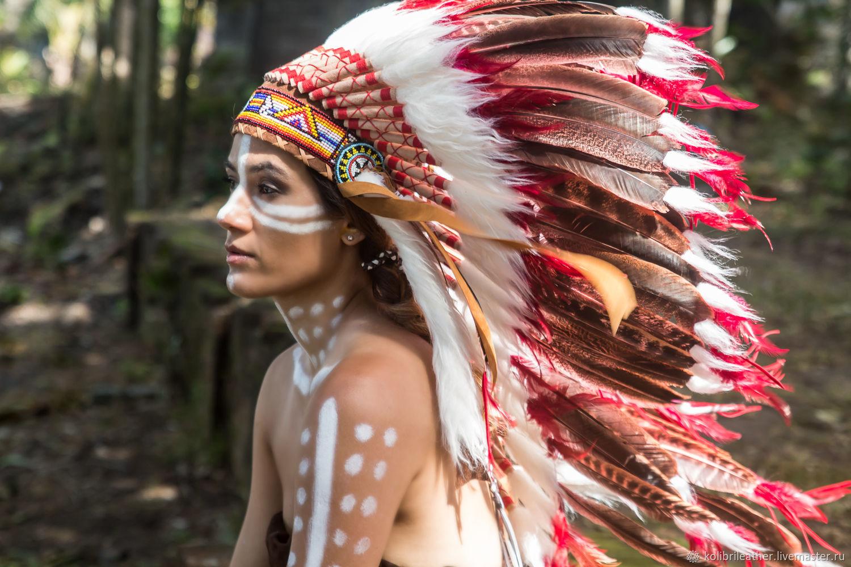 Индейцы с перьями картинки
