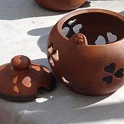 """Посуда ручной работы. Ярмарка Мастеров - ручная работа Баночка для хранения """"Лужок"""".. Handmade."""