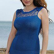 """Одежда ручной работы. Ярмарка Мастеров - ручная работа Платье """" Синее"""". Handmade."""