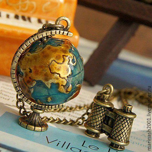 Шитье ручной работы. Ярмарка Мастеров - ручная работа. Купить Глобус путешественник. Handmade. Комбинированный, глобус, мир, путешествие, путешественник