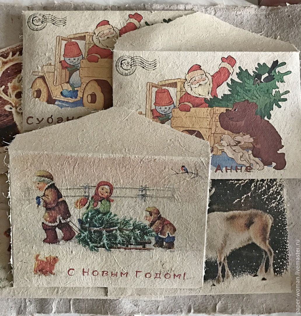 Letter From Santa Claus Vintage Envelope  Shop Online On