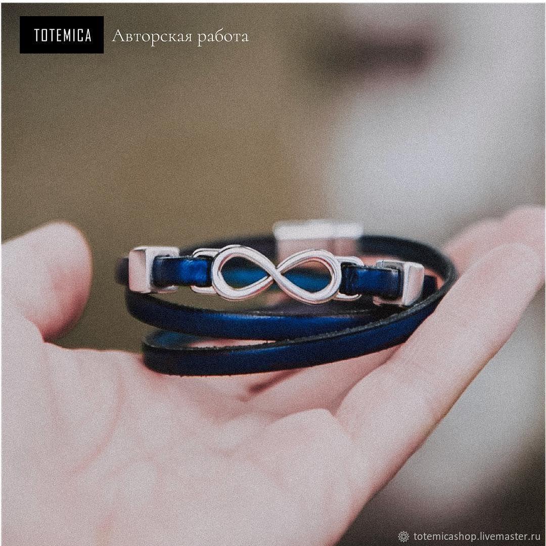 Infinity bracelet, leather, Cord bracelet, Moscow,  Фото №1