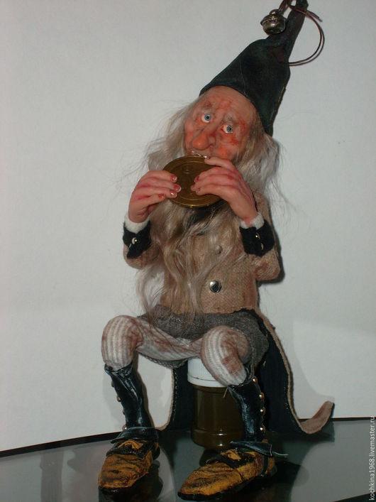 Коллекционные куклы ручной работы. Ярмарка Мастеров - ручная работа. Купить Сказочный коротышка.. Handmade. Бежевый, бубенчики, ЛивингДолл