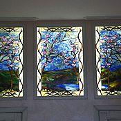Для дома и интерьера ручной работы. Ярмарка Мастеров - ручная работа Витраж в ниши, пейзаж. Handmade.
