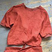 Одежда ручной работы. Ярмарка Мастеров - ручная работа Алая пижама. Handmade.