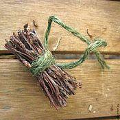 Материалы для творчества ручной работы. Ярмарка Мастеров - ручная работа вязанка березовая миниатюрная. Handmade.