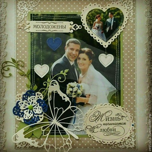 """Свадебные фотоальбомы ручной работы. Ярмарка Мастеров - ручная работа. Купить """"Wedding Memories..."""". Handmade. Разноцветный, интерьерное украшение"""