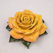 Для дома и интерьера ручной работы. Ярмарка Мастеров - ручная работа Керамические розы для интерьера большая. Handmade.