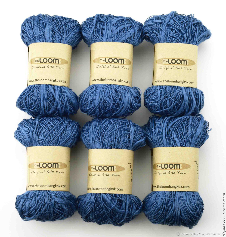 Вязание ручной работы. Ярмарка Мастеров - ручная работа. Купить Пряжа THE LOOM  Risoni RI-14 Light Blue. Handmade.