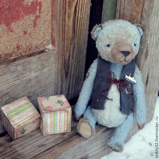 Мишки Тедди ручной работы. Ярмарка Мастеров - ручная работа. Купить свободен, как море.... Handmade. Синий, мишка в подарок