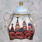 Посуда handmade. Livemaster - original item Sugar bowl porcelain