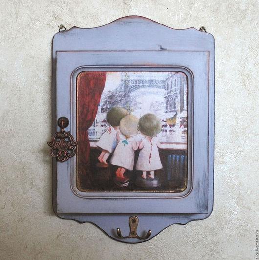 Прихожая ручной работы. Ярмарка Мастеров - ручная работа. Купить ОКНО В ПАРИЖ ключница. Handmade. Комбинированный, интерьер, дерево