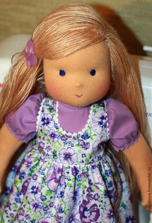 Вальдорфская игрушка ручной работы. Ярмарка Мастеров - ручная работа. Купить Сиреневый цветок-3, 36см,  вальдорфская кукла. Handmade.