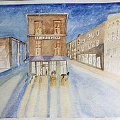 Картины и панно ручной работы. Ярмарка Мастеров - ручная работа Ночная улица. Handmade.