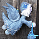 Сказочные персонажи ручной работы. Ярмарка Мастеров - ручная работа. Купить Звездный Ангел. Handmade. Голубой, авторская игрушка