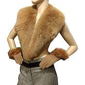Аксессуары handmade. Livemaster - original item Winter set of accessories: the collar and gloves of the Fox. Handmade.