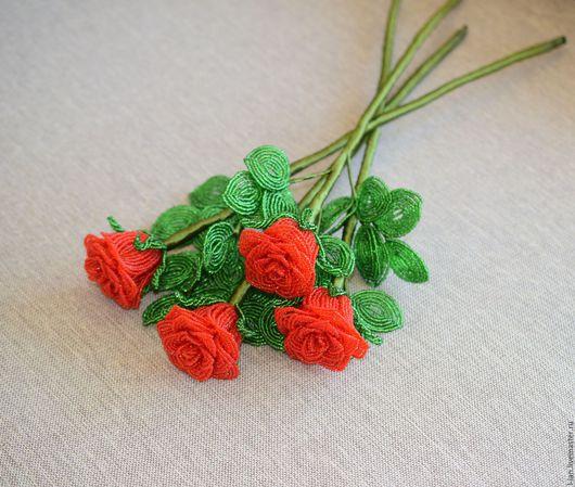 Цветы ручной работы. Ярмарка Мастеров - ручная работа. Купить Розочка-трасформер. Handmade. Цветы из бисера, розы в подарок