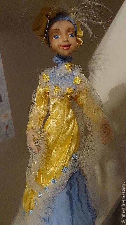 Коллекционные куклы ручной работы. Ярмарка Мастеров - ручная работа. Купить Солнечная Леди. Handmade. Желтый, солнечное настроение