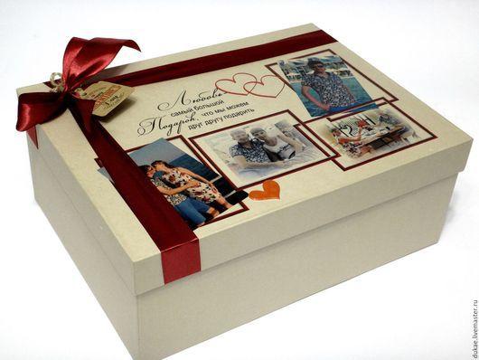Подарочная упаковка ручной работы. Ярмарка Мастеров - ручная работа. Купить Подарочная коробка. Handmade. Бежевый, дизайнерская бумага