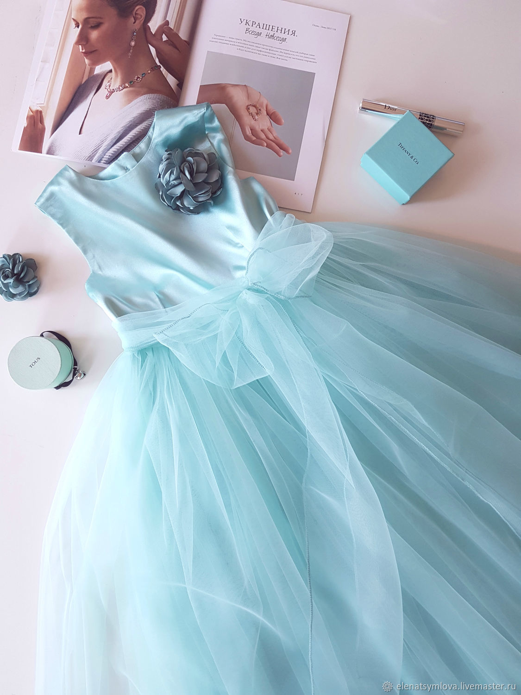 e2f551307f9 Детское платье цвет Светлая мята – купить в интернет-магазине на ...