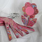 """Для дома и интерьера ручной работы. Ярмарка Мастеров - ручная работа Детские вешалки  для одежды """"Pink dreams"""".. Handmade."""