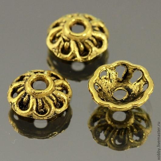 Шапочки для бусин Примитивная розетка в тибетском стиле грубого литья для использования в сборке украшений\r\nМатериал сплав\r\nЦвет античное золото с чернением