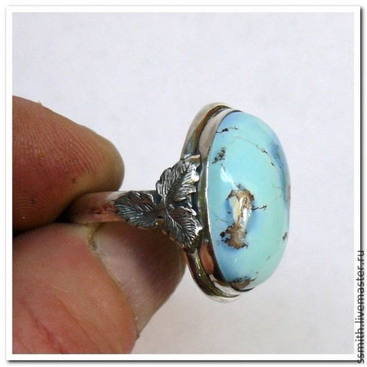Кольца ручной работы. Ярмарка Мастеров - ручная работа. Купить кольцо с бирюзой 5. Handmade. Бирюза натуральная, бирюза натуральная