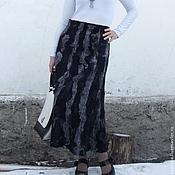 """Одежда ручной работы. Ярмарка Мастеров - ручная работа Валяная юбка """"Ночь темна"""". Handmade."""